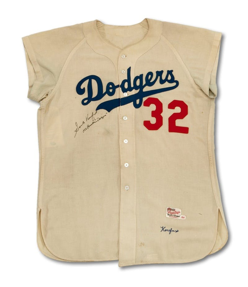 Dodgers baseball shirt sold on auction