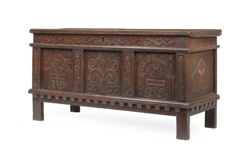 Antique decorated coffer